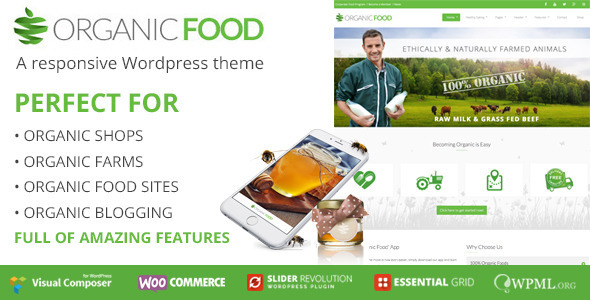 Tema WordPress Organic Food