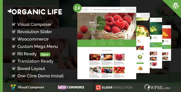 Tema WordPress Organic Life